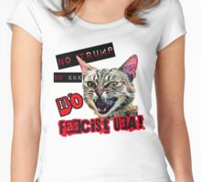 No Fascist USA Cat Women's Fitted Scoop T-Shirt