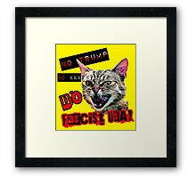 No Fascist USA Cat Framed Print