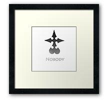 Nobody - Simplistic  Framed Print