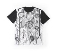 Zen Doodle 6 Circuitry Black Ink Graphic T-Shirt