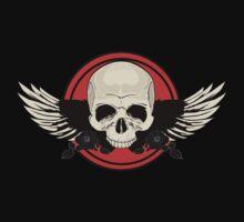 Wing Skull - ORANGE T-Shirt