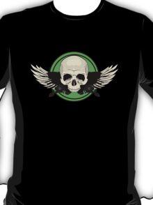 Wing Skull - GREEN T-Shirt
