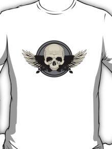 Wing Skull - BLACK & WHITE T-Shirt