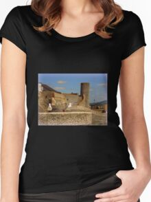 Historic Lyme Regis Women's Fitted Scoop T-Shirt