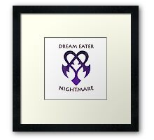 Dream Eater //NightMare// - Simplistic Framed Print