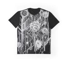 Zen Doodle 6 Circuit Black White Glow Graphic T-Shirt