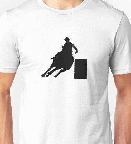Rodeo Theme - Barrel Racer Silhouette Unisex T-Shirt