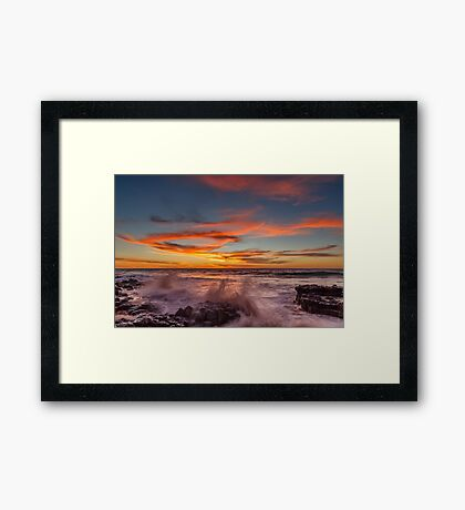 Final Sunset Of 2016 Framed Print