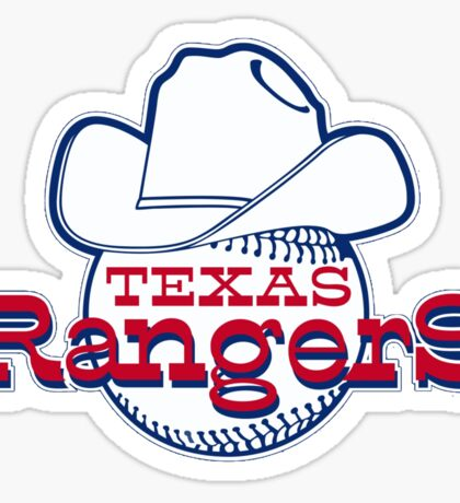 Texas Rangers Baseball Sticker