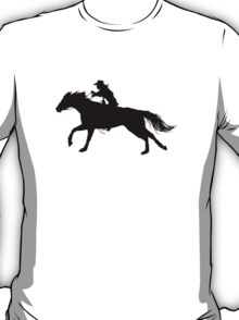 Rodeo Theme - Barrel Racer Silhouette T-Shirt