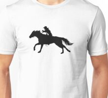 Rodeo Theme - Barrel Racer Silhouette Unisex T-Shirt