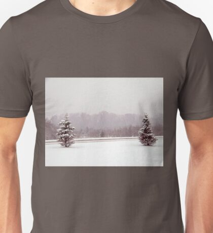 winter tree scene Unisex T-Shirt