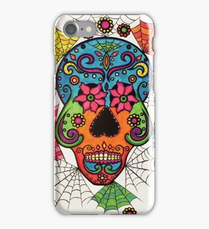 Skull and Webs by Lindsay Carpenter iPhone Case/Skin