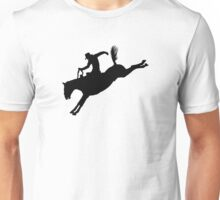 Rodeo Theme - Bucking Bronc Silhouette Unisex T-Shirt