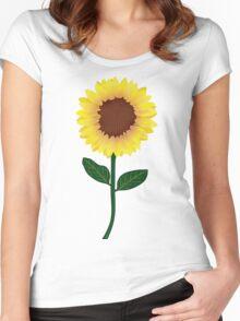 Sunflower - Sticker Women's Fitted Scoop T-Shirt
