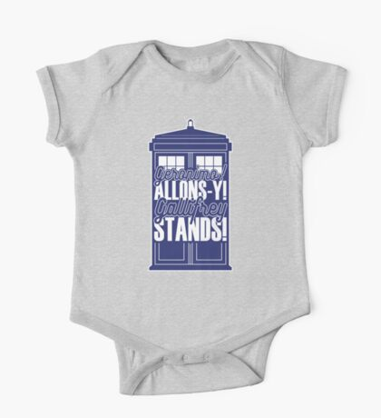 "Doctor Who - ""Geronimo! Allons-y! Gallifrey Stands!"" One Piece - Short Sleeve"