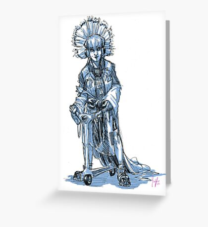The Scooter Lady Greeting Card