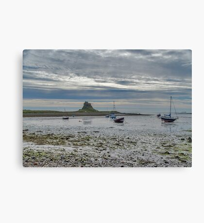 Across The Mud Flats Canvas Print