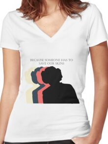 March for the Nasty Princess Women's Fitted V-Neck T-Shirt
