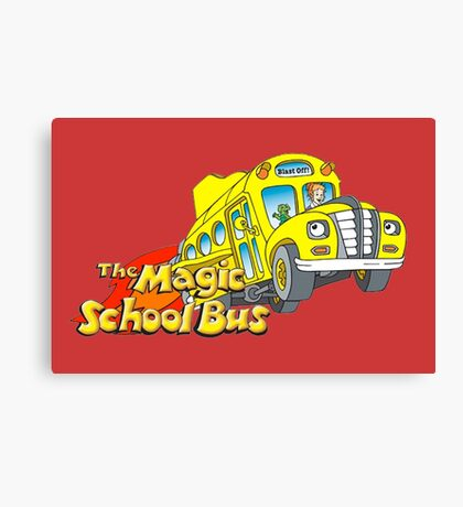 the magic school bus Canvas Print