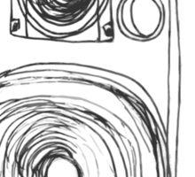 Classic 80s Analog Stereo Speaker  Sticker