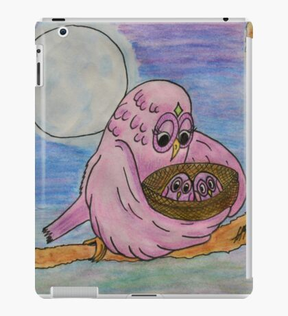 Mother Owl and her Babies iPad Case/Skin