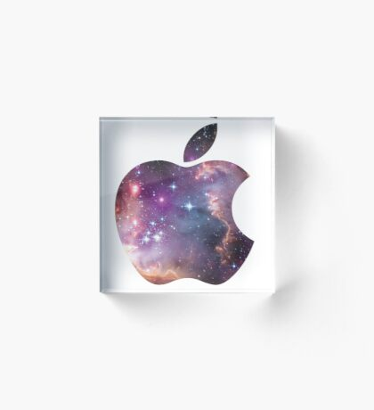 Cosmic Think Differently Apple  Acrylic Block