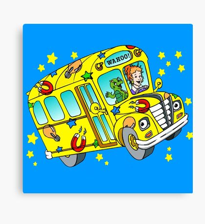 magic school bus Canvas Print