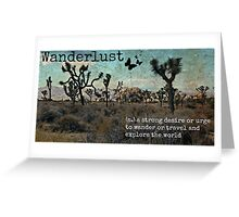 Wanderlust Travel Quote Collection Greeting Card