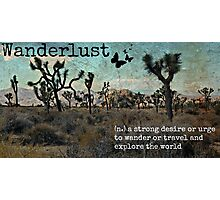 Wanderlust Travel Quote Collection Photographic Print