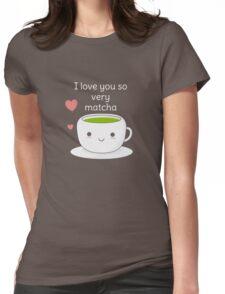 Funny Matcha Tea T-Shirt Womens Fitted T-Shirt