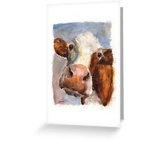 Melancholy Cow Greeting Card