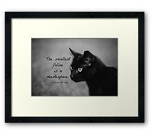 Feline Leonardo da Vinci Framed Print