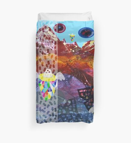 Mystery Mountains Duvet Cover