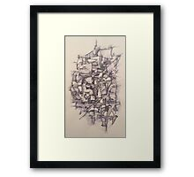 Abstract Pen and Ink Framed Print