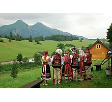 Slovakian tradional costums Photographic Print