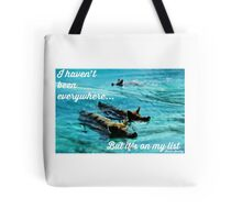 Bucket List Travel Quote Collection Tote Bag