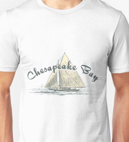Chesapeake Bay Sailing Boating T Shirts For Men Unisex T-Shirt