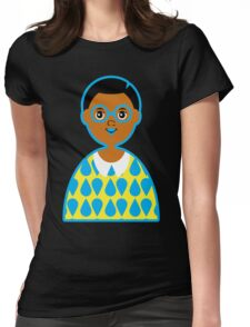 Girl 3 - Goggles and Raindrops Womens Fitted T-Shirt