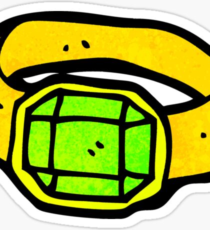 cartoon magic green ring Sticker