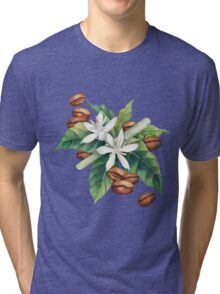 Watercolor coffee vignette Tri-blend T-Shirt