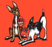 Rat Terrier Sweethearts by offleashart