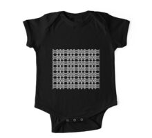 Arrows and Diamond Black and White Pattern 2 One Piece - Short Sleeve