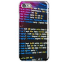 HTML and CSS code developing 2 iPhone Case/Skin
