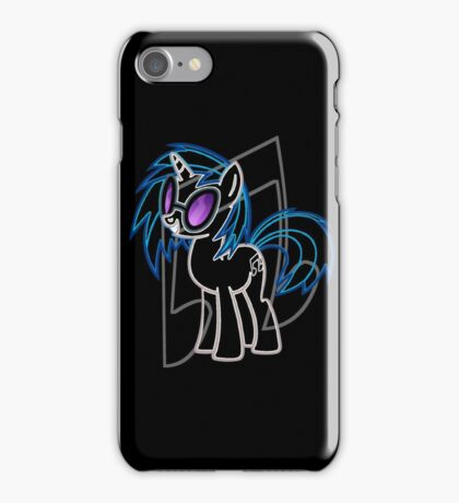 DJ Pon 3 and Cutie Mark iPhone Case/Skin