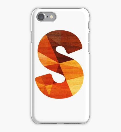 Letter S - Wooden Initial  iPhone Case/Skin