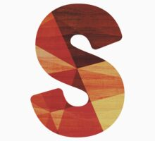 Letter S - Wooden Initial  Kids Clothes