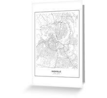 Nashville Minimalist Map Greeting Card