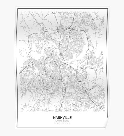 Nashville Minimalist Map Poster