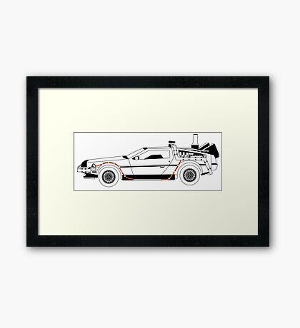 Delorean DMC Back to the Future vertical Framed Print